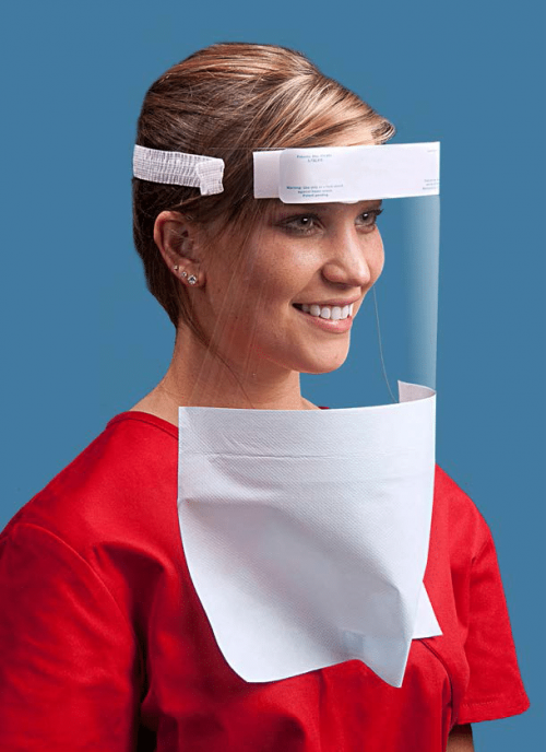 Disposable Face-It Shield with Drape
