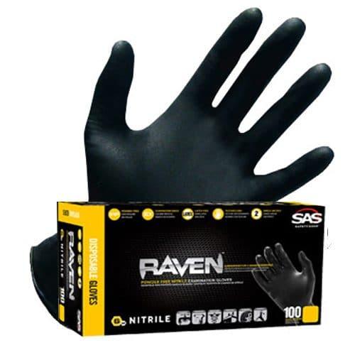 SAS Raven 6 mil Nitrile Gloves