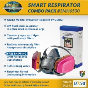 SMART respirator combo pack #3MH6000