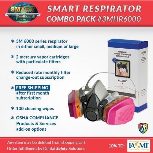 SMART respirator combo pack #3MHR6000