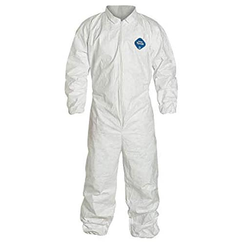 DuPont Tyvek 400 125S Disposable Coveralls with Elastic Wrists and Ankles