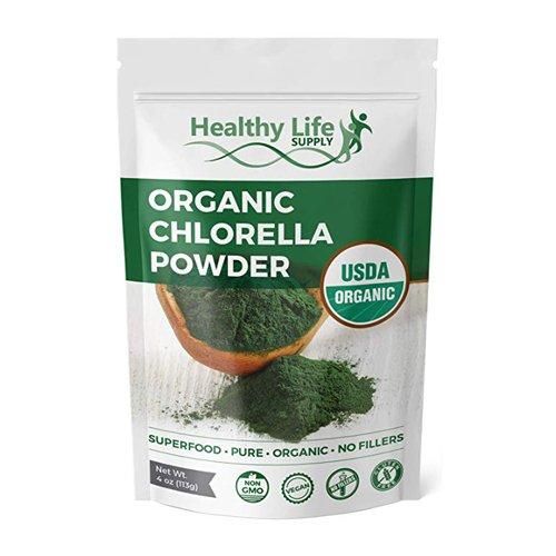 Organic Chlorella Powder front