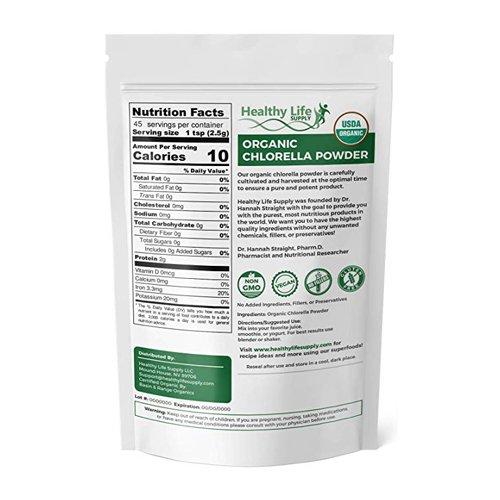 Organic Chlorella Powder - USDA Organic - Non GMO (4oz) - Dental Safety  Solutions, LLC
