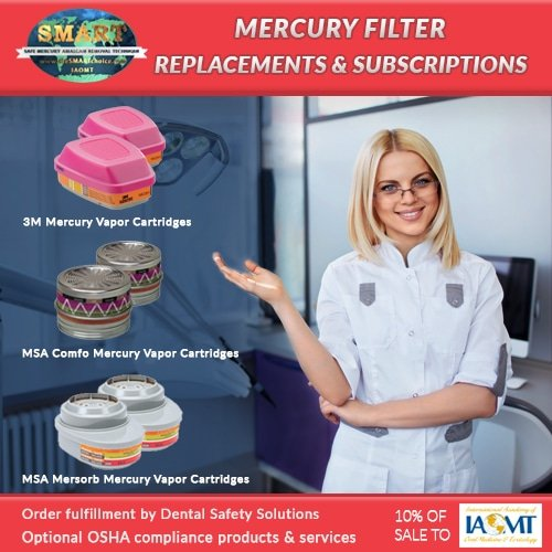Mercury Vapor Cartridges & Filters for 3M™ & MSA Respirators