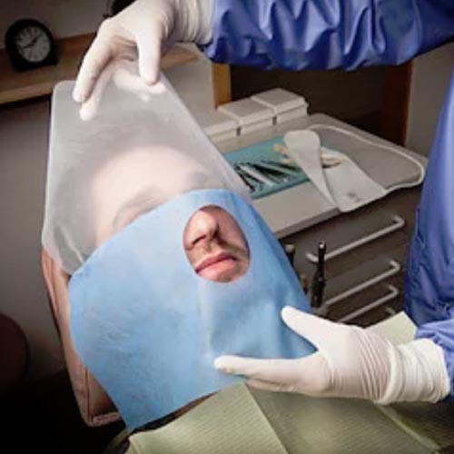 disposable face drape