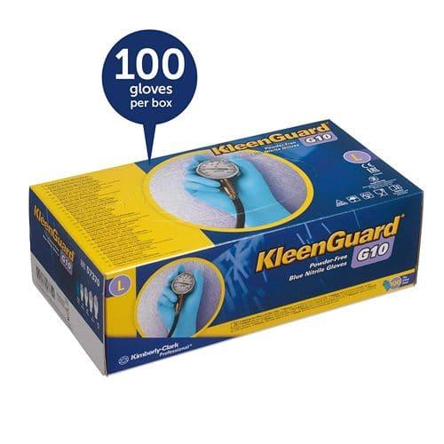 kleengaurd G10 blue bitrile glove 6mil box